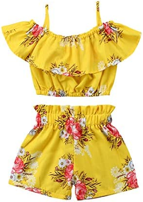 Toddler Floral Ruffled Outfits Clothes product image