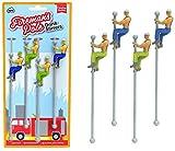 WeeZ Industries Bundle - Two Packs - Firefighter Sliding Down Pole Fireman Buddies Drink Stirrers Swizzle Sticks