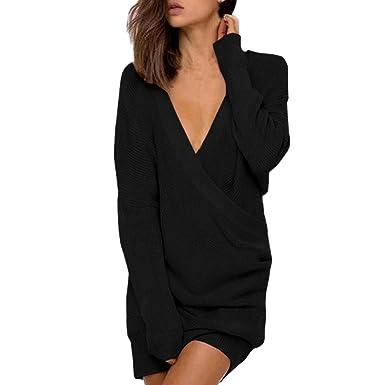 Innerternet Pullover Sweater Strickkleid Warm Elegant
