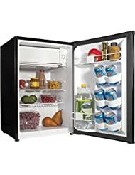 Haier 2.7 cu ft Refrigerator, features a space-saving design with a spacious interior /black