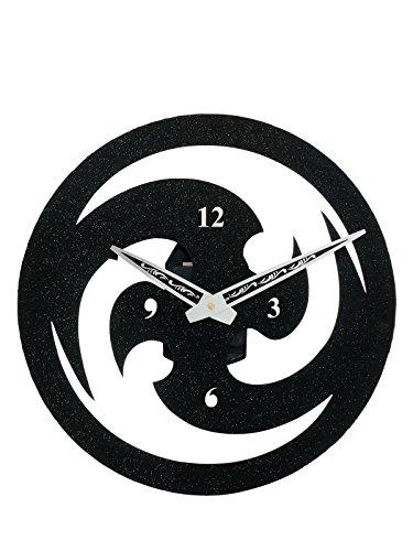 Sehaz Artworks Chakkree Round Acrylic Wall Clock (32 cm x 32 cm x 4 cm, Green)