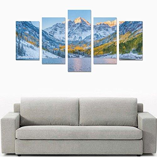 Bells Maroon (Home Decor Canvas Print Sets Wall Print Set Wall Art Print Posters on Canvas for Maroon Bells At Sunrise Aspen)