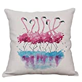 Best Cotton Pillow With Flamingos - Flamingo Decorative Throw Pillow Covers Cotton Linen Cushion Review