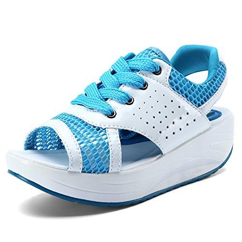Women's Canvas Slip-on Toning Shoe Walking Sneaker(Blue 40/9.5 B(M) US Women)