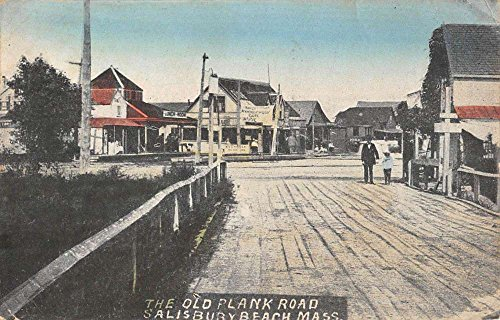 Salisbury Beach Massachusetts Old Plank Road Way Antique Postcard K79531 (Antiques Plank Old)