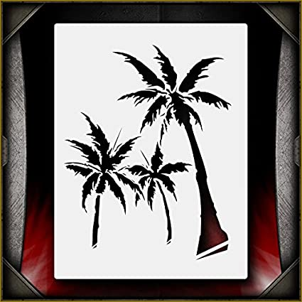 Amazon Com Palm Trees 1 Airsick Airbrush Stencil Template