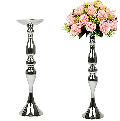 Happy E-life Classic Elegant Metallic Candle Holder Candlest