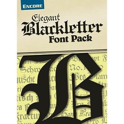 Elegant Blackletter Fonts