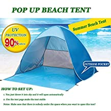 HappyGo Pop Up Beach Tent Instant Cabana Camping Tent Sun Shelters family tent for 2-3 person 65 x 60 x 43 inch