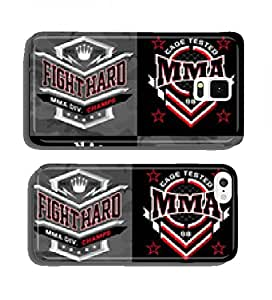 MMA mixed martial arts crest emblem graphics cell phone cover case Samsung S4