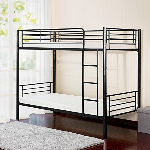 Merax Twin-Over-Twin Metal Bunk Bed in ()