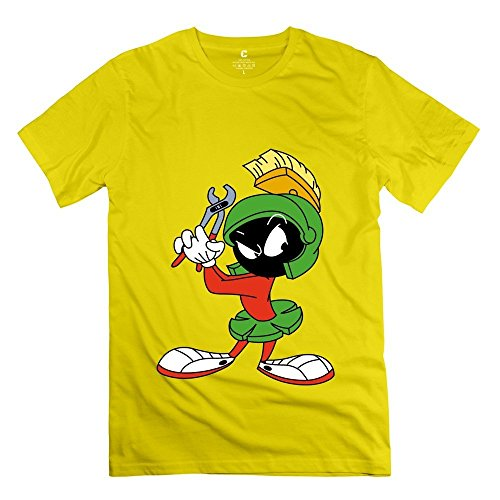 Custom Marvin The Martian Vice Men's Tee Yellow Size L