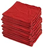 Buffalo Industries (62000) 14'' x 14'' Red Shop Towel, (Pack of 500)
