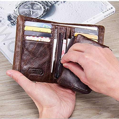 Card Leather Personalized Men Multi Tanchen Holder Genuine Wallets Slots v0qnEgWH