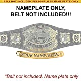Personalized Nameplate for Adult WWE Undisputed Version 2 Championship Replica Belt