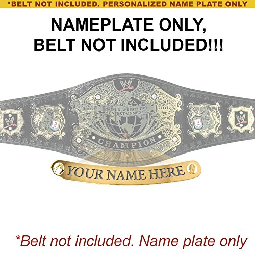Personalized Nameplate for Adult WWE Undisputed Version 2 Championship Replica Belt by WWE