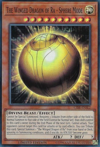 Winged Dragon (The Winged Dragon of Ra - Sphere Mode - CIBR-ENSE2 - Super Rare - Limited Edition - Circuit Break: Special Edition (Limited Edition))