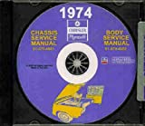 1974 CHRYSLER REPAIR SHOP & SERVICE MANUAL & BODY MANUAL CD INCLUDES Imperial Le Baron, Chrysler New Yorker, Brougham, Newport, Custom, Town & Country. 74