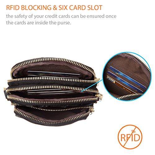 MINICAT Nylon Small Crossbody Bags RFID Blocking Cell Phone Purse For Women (Black-RFID Blocking) by MINICAT (Image #2)