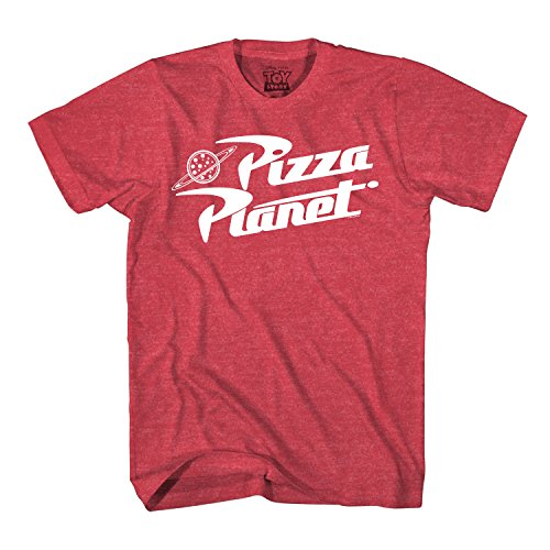 Toy Story Pizza Planet Delivery Adult T-Shirt (XXL, Heather Red)