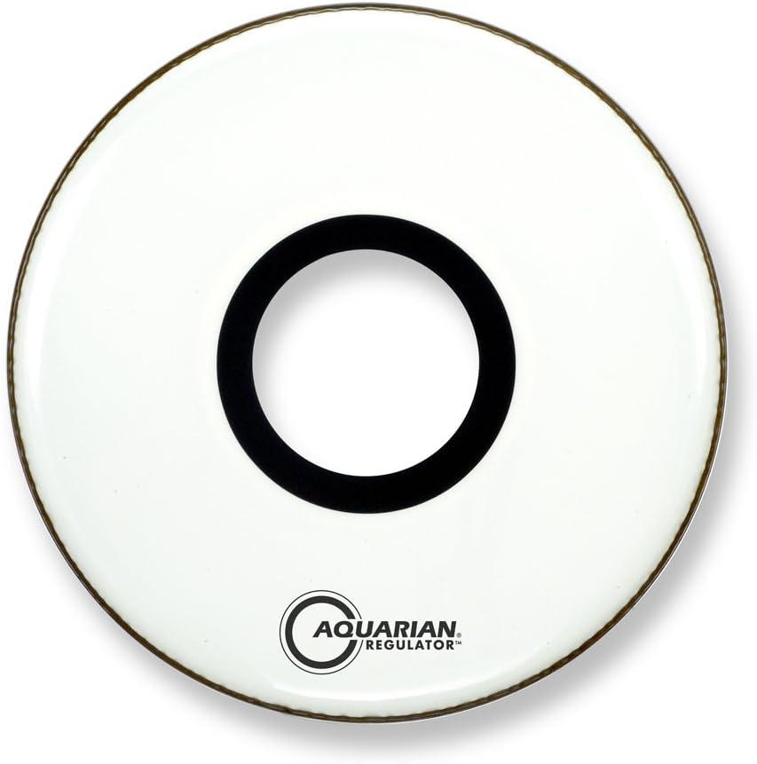 gloss white Aquarian Drumheads RPT16WH Regulator White 16-inch Bass Drum Head