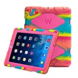 Kidspr Protective Case with Built-in Screen Protector for Apple iPad 2/3/4 - Camouflage
