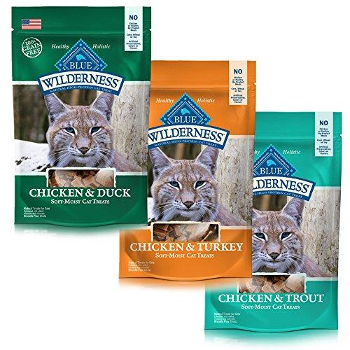Blue Wilderness Soft Moist Cat Treats Bundle - 3 Flavors
