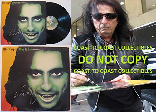 (Alice Cooper signed, autographed, Goes to hell Album, Vinyl Record, COA with the Proof Photo will be included. STAR)