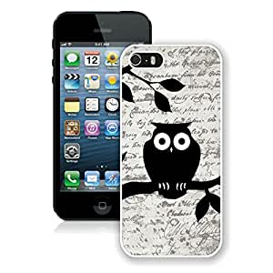 Elegant Apple Iphone 5s Case Owl On Vintage Paper Cute Soft TPU Silicone White Phone Cover for Iphone 5