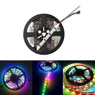 HKBAYI 5M 16.4F 5V WS2801 addressable RGB LED magic dream color Strip light 32Leds/M 160led non-Waterproof music strip light