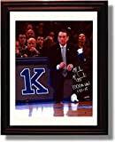 Framed Duke ''Coach K''' 1,000th Win Framed Autograph Photo