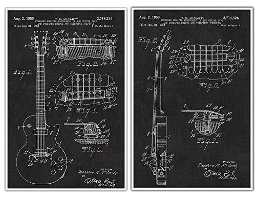 Gibson Les Paul Guitar Posters, Guitar Art, Guitar Player Gift, Electric Guitar, Patent Prints,