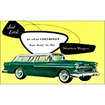 1955 CHEVROLET STATION WAGON DEALERSHIP SALES BROCHURE For Nomad, Bel Air Beauville, Handyman, Townsman, Two-Ten 210, One-Fifty 150