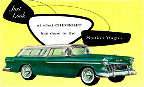 1955 CHEVROLET STATION WAGON DEALERSHIP SALES BROCHURE For Nomad, Bel Air Beauville, Handyman, Townsman, Two-Ten 210, One-Fifty 150 (1955 Chevy Bel Air Wagon For Sale)