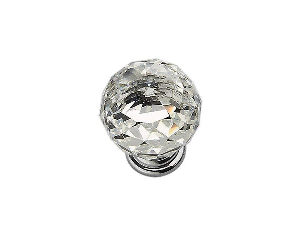 Ajhgqejfw Handle, Crystal Handle European, Single Hole, Zinc Alloy (Green: Single hole-30mm) (Color : -, Size : Single hole-25mm)