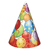 Balloons Birthday Party Hats, 8ct