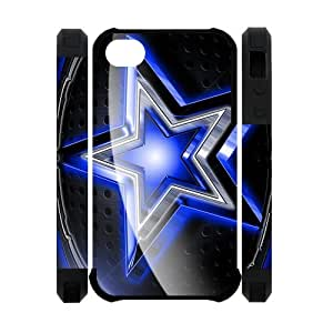 Diystore 2013 New Style NFL Dallas Cowboys Logo Cover Hard Plastic iPhone 4 4S Case