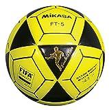 Mikasa FT5 Goal Master Soccer Ball, Black/Yellow, Size 5