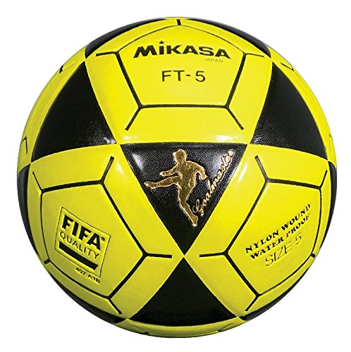 Mikasa ft5 Goal Master Soccer Ball、ブラック/イエロー、サイズ5 B07B9Y5S1R