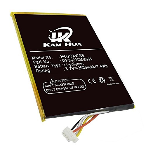 GPS0320MG051, KAMHUA Battery For SKYGOLF SkyCaddie Breeze SGX SGXW, SkyCaddie SGX GPS Rangefinder, SkyCaddie SGX-W by KAMHUA