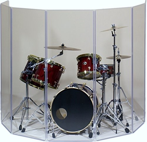 Drum Shield- DS65L Five - 2ft. x 6 ft. Panels with Plastic Full Length Living Hinges by Pennzoni Display (Image #3)