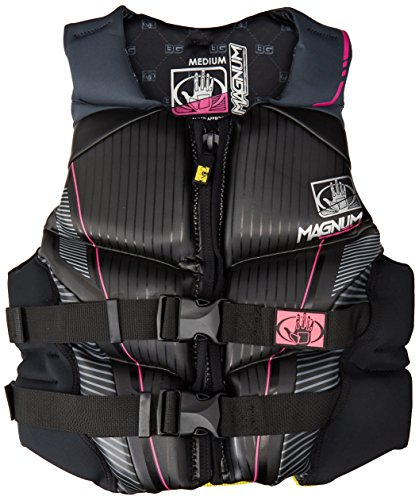 Body Glove Women's Magnum U.S. Coast Guard Approved Neoprene PFD Life Vest (Black, Medium)