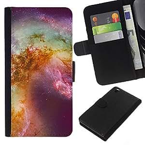[Neutron-Star] Modelo colorido cuero de la carpeta del tirón del caso cubierta piel Holster Funda protecció Para HTC DESIRE 816 [Horsehead Nebula Stars Teal Purple]