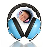 KOBWA Baby Ear Defender Headphone - 30DB Noise Cancelling Hearing Protection Safety Earmuffs for Sleeping Studying Outdoor Travelling - Ages Over 6 Months, Soft & Comfortable, Adjustable Earphone