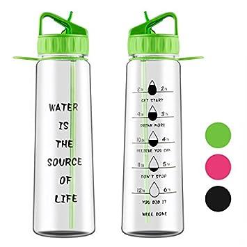 Aruny Botella de agua (900 ml / 32 oz) Botella de agua deportiva de