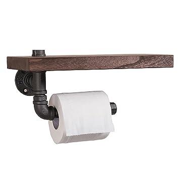 Schon CASEWIND Multi Funktion Badezimmer Accessoires Toilettenpapierhalter Mit  Ablage Aus Eisen Und Holz Wandmontag Amerikanisch Landhaus Industriel