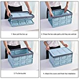 Homde 50L Collapsible Storage Bins Pack of 2 with
