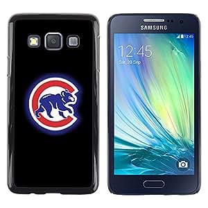 ROKK CASES / Samsung Galaxy A3 SM-A300 / CUB SPORT / Delgado Negro Plástico caso cubierta Shell Armor Funda Case Cover