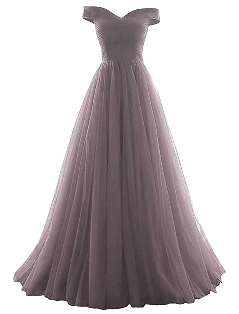 VICKYBEN Women's A-line Tulle Prom Formal Evening Homecoming Dress Ball Gown