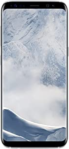 Samsung Galaxy S8 64GB Phone - 5.8in Unlocked Smartphone - Arctic Silver (Renewed)